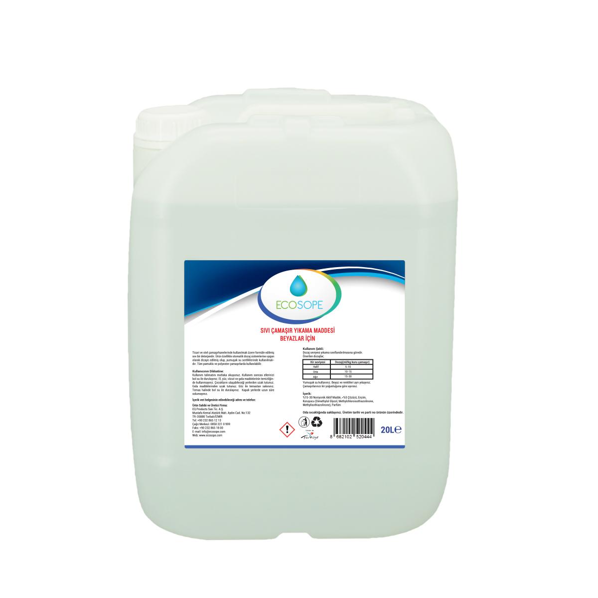 Ecosope Sıvı Çamaşır Yıkama Maddesi Beyazlar İçin