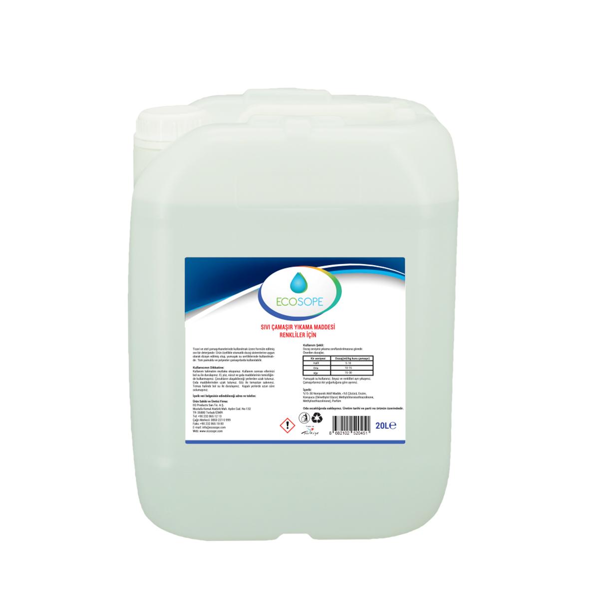 Ecosope Sıvı Çamaşır Yıkama Maddesi Renkliler İçin